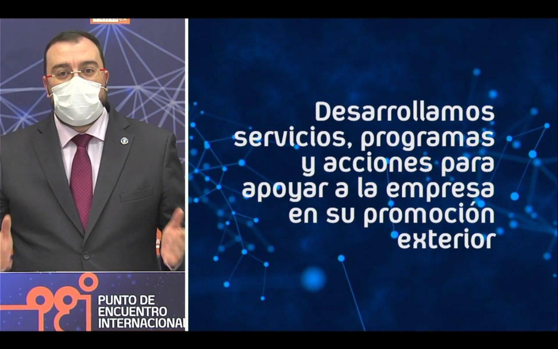 Adrián Barbón, Presidente del Principado de Asturias inaugura el Punto de Encuentro Internacional