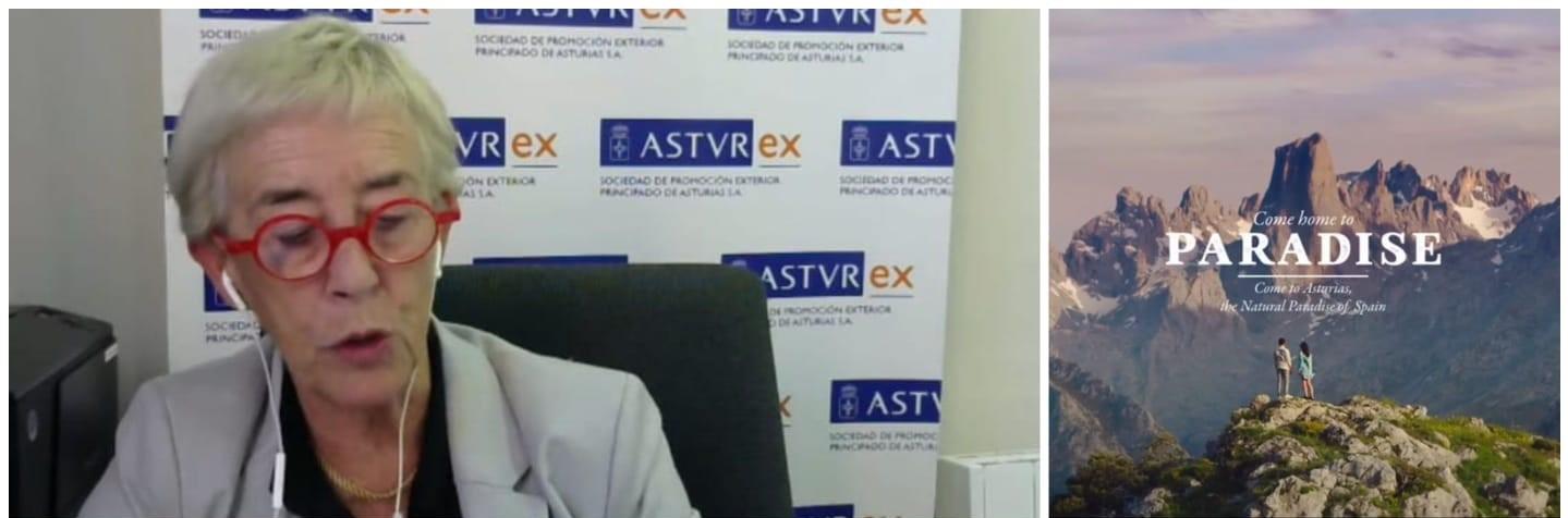 Teresa Vigón, directora general de ASTUREX inaugura la semana de España